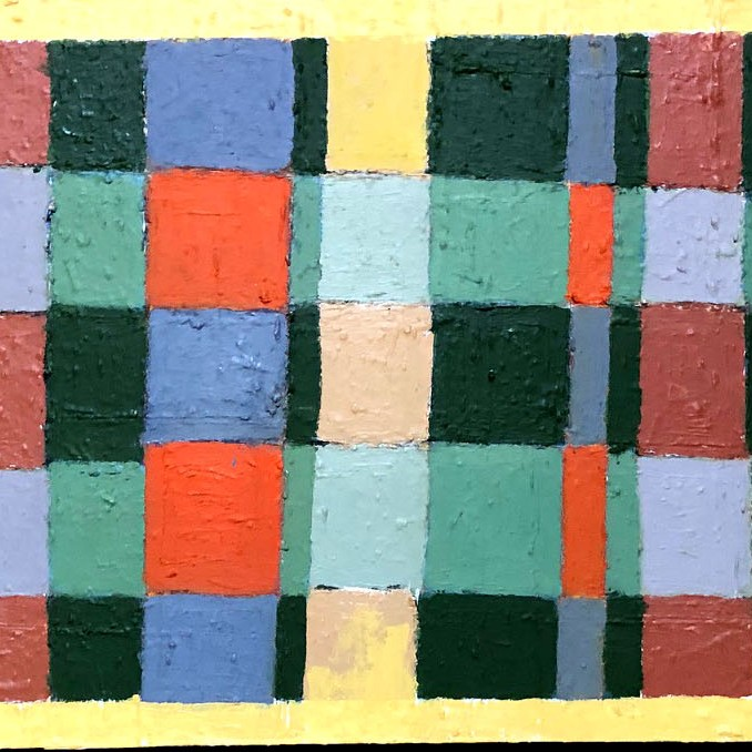 Plaid painting in Quilt Series by Tim Beavis